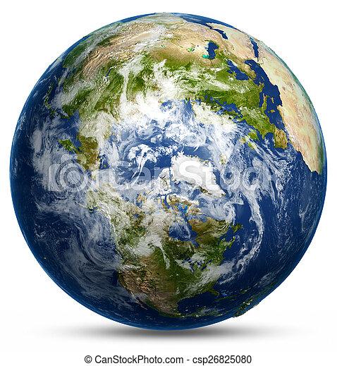 globe terre, carte - csp26825080