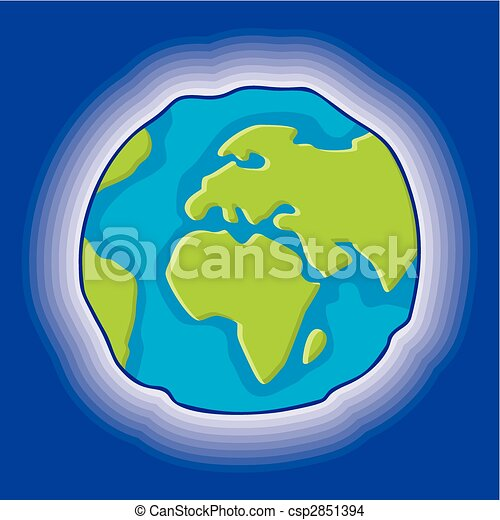 Globe Terre Vecteur Icone Style Simple Globe Icone La Terre