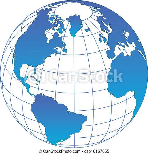 globe, vecteur - csp16167655