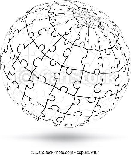 globe, vecteur - csp8259404