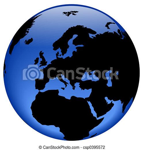 Globe view - Europe - csp0395572