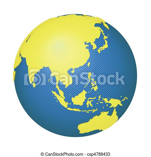 globe with asia and australia csp4788433