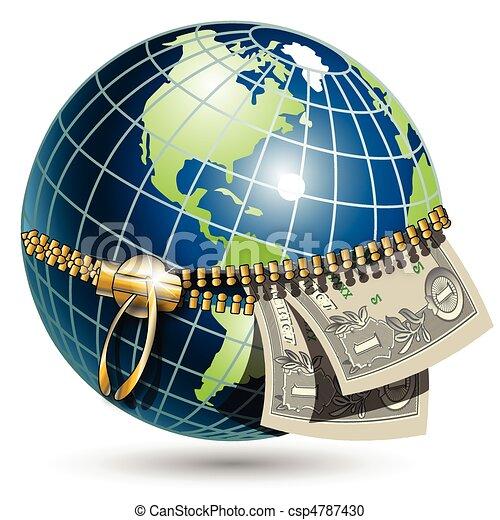 Globe With Dollar   Csp4787430