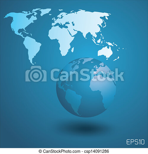 Globe with world map globe with world map background vector globe with world map csp14091286 gumiabroncs Image collections