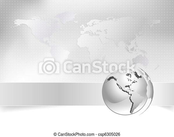 Globe, world map - business concept - csp6305026