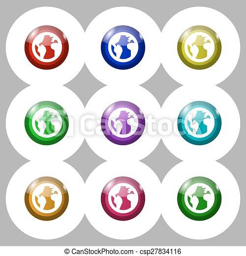 Globe world map geography icon sign symbol on nine round vector globe world map geography icon sign symbol on nine round colourful buttons vector gumiabroncs Images