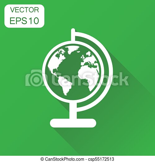 Globe world map icon business concept round earth vector clip globe world map icon business concept round earth pictogram vector illustration on green gumiabroncs Images