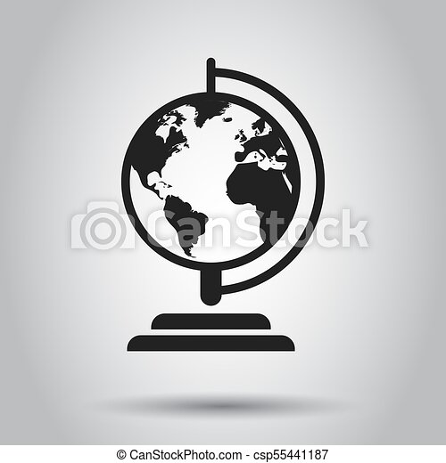 Globe world map vector icon round earth flat vector vector globe world map vector icon round earth flat vector illustration planet business concept gumiabroncs Images