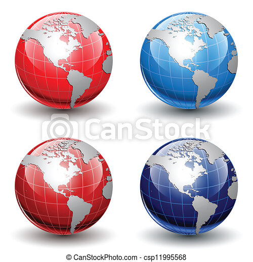 globes, la terre - csp11995568