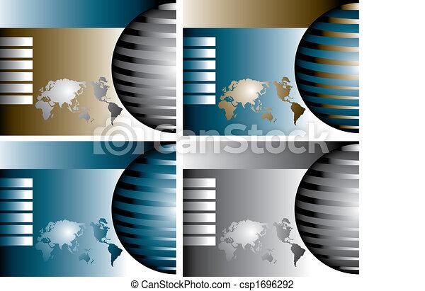 globes, vecteur, 4 - csp1696292