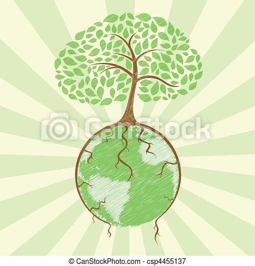 globo, árvore - csp4455137