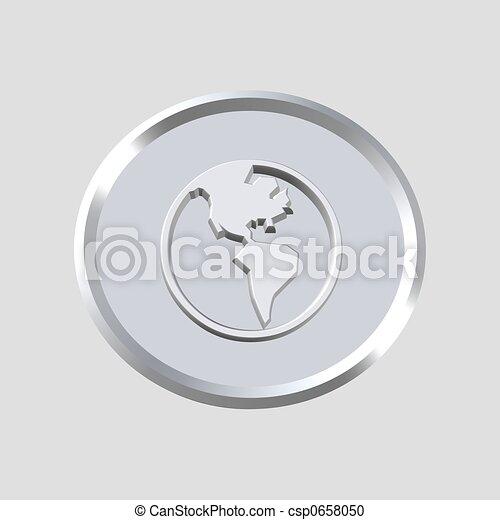 globo, 3d, icona - csp0658050