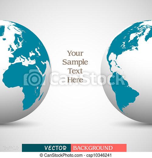 globo, affari, fondo, creativo - csp10346241
