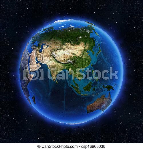 globo, asia - csp16965038