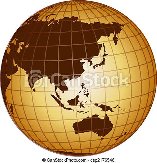 globo, australia, asia - csp2176546