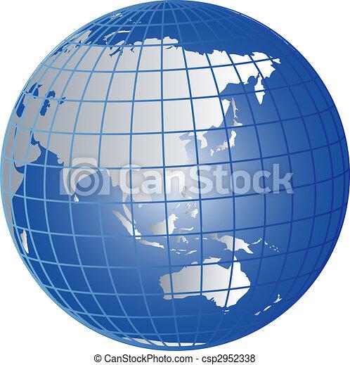 globo, australia, asia - csp2952338