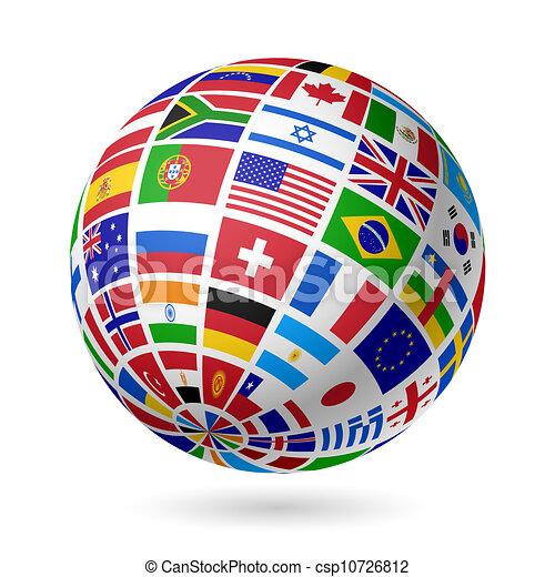 globo, bandeiras - csp10726812