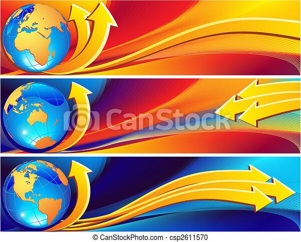 Globe Banner - csp2611570