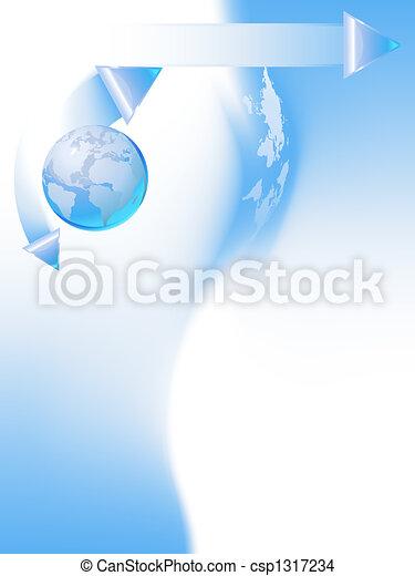 globo blu, sagoma - csp1317234