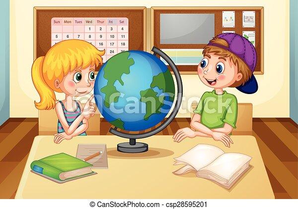 globo, crianças - csp28595201