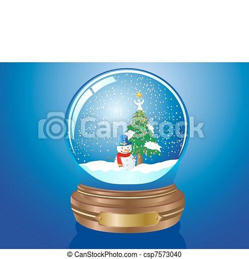 El globo de nieve de Navidad - csp7573040