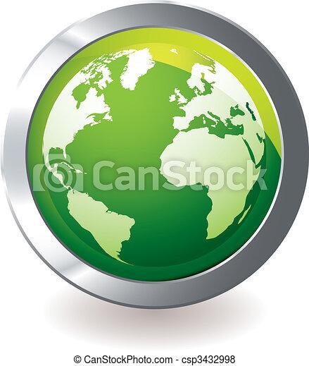 Tierra de iconos verdes - csp3432998