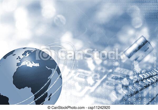 Globo y electrónica - csp11242920