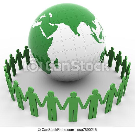 Gente y globos - csp7890215