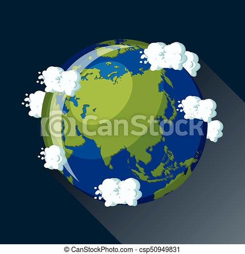 Ícono de Asia Globe. - csp50949831