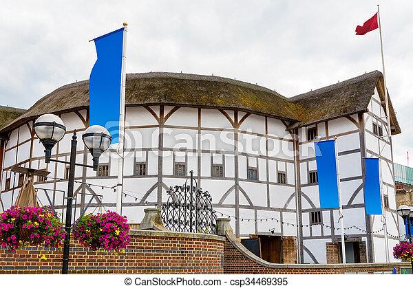 El teatro del globo. Londres, Inglaterra - csp34469395