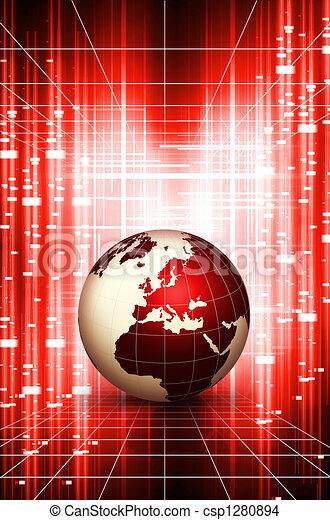 globo mondo, azione - csp1280894