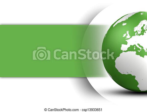 globo, mondo, concetto, disegno - csp13933651