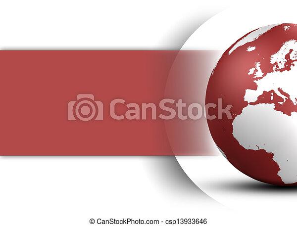 globo, mondo, concetto, disegno - csp13933646