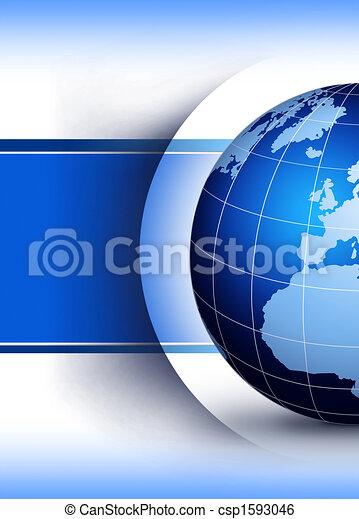 globo mondo, disegno, concetto - csp1593046