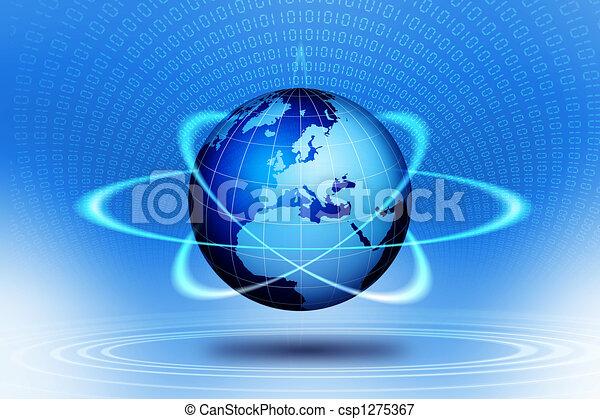 globo mondo, tecnologico, action. - csp1275367