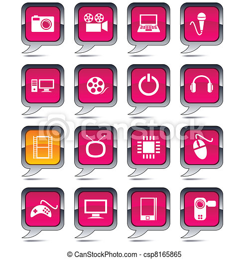 iconos de globos multi-dia. - csp8165865