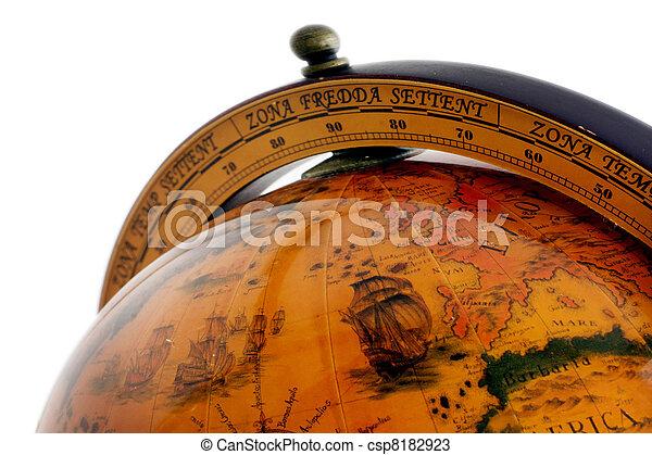 globo mundial, antigas, mapa - csp8182923