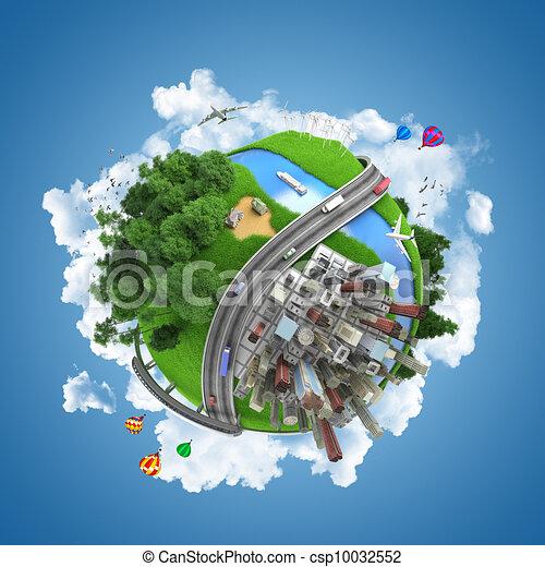 globo mundial, conceito - csp10032552
