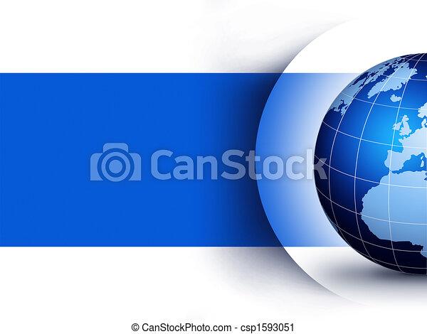 globo mundial, conceito, desenho - csp1593051