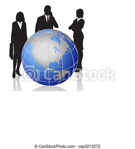 globo mundial, homens negócios - csp3213272