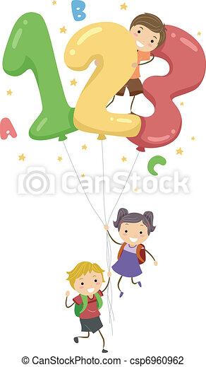 globos, número - csp6960962