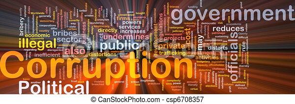 gloeiend, concept, corruptie, achtergrond - csp6708357
