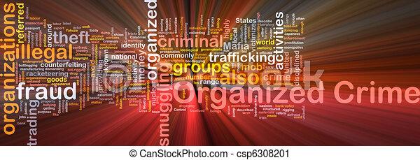gloeiend, concept, georganiseerd, achtergrond, misdaad - csp6308201