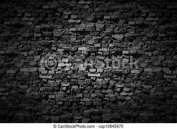 Gloomy brickwall background. - csp10845970