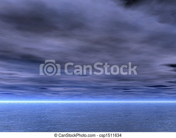Gloomy Skies - csp1511634