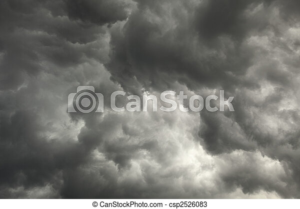 Gloomy sky preceding storm with dark clouds - csp2526083