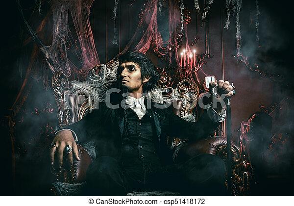gloomy vampire man - csp51418172