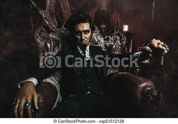 gloomy vampire man - csp51512128