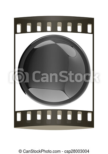 Glossy black button. The film strip - csp28003004