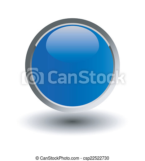 glossy blue button, balls. Vector i - csp22522730